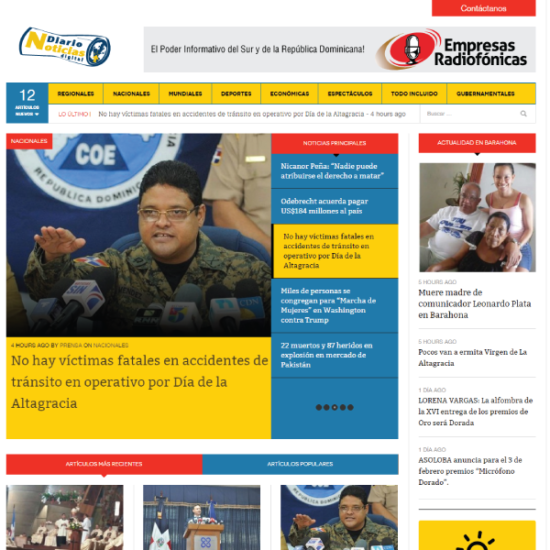 Web Design & Development | Diario Noticias Digital