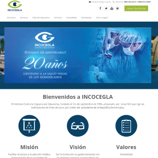 Web Design & Development | Instituto Contra la Ceguera por Glaucoma