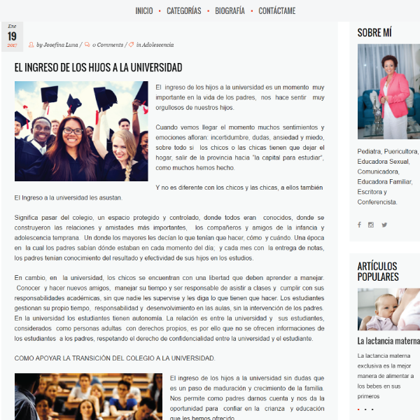 Web Design & Development | Josefina Luna